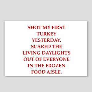 turkey shoot Postcards (Package of 8)